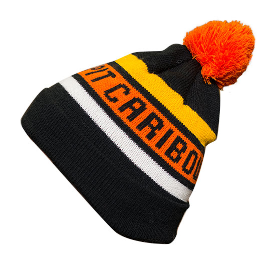 Tuque noir et orange