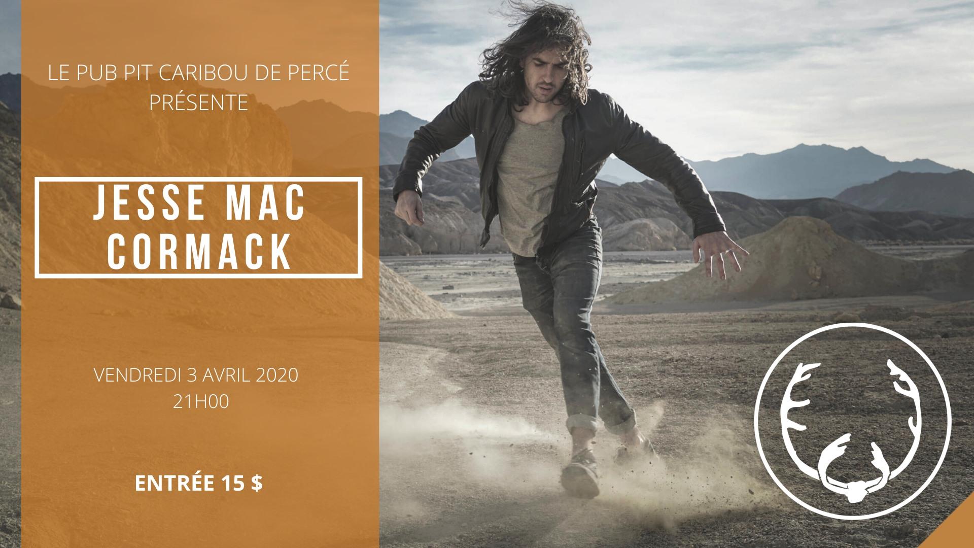 Concert de Jesse Mac Cormack ***REPORTÉ EN JUIN EN RAISON DU CORONA VIRUS***